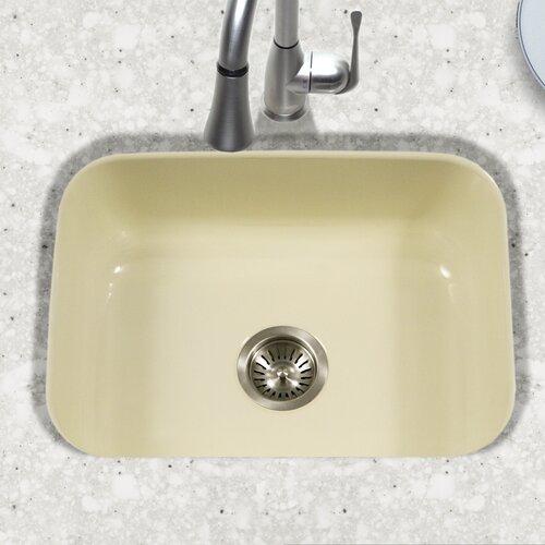 Houzer porcela x 17 4 porcelain enamel steel for Porcelain on steel bathtub review