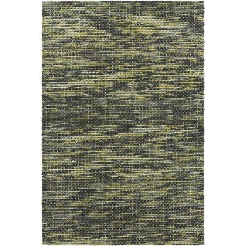 Argos Textured Contemporary Wool Green/Gray Area Rug