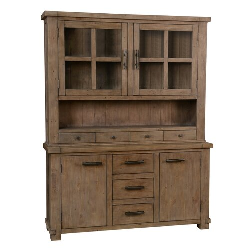 solid pine china cabinet 2