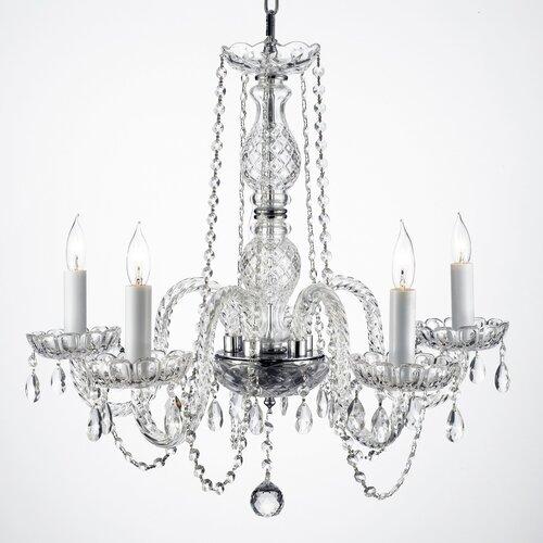 Harrison Lane Royal 5 Light Crystal Chandelier