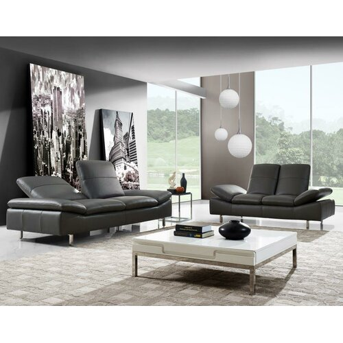 york 2 piece leather living room set by creative furniture