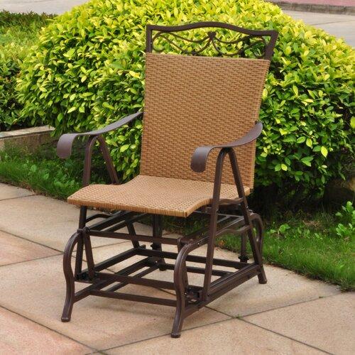 Outdoor Wicker Glider Sofa: International Caravan Valencia Outdoor Wicker Single