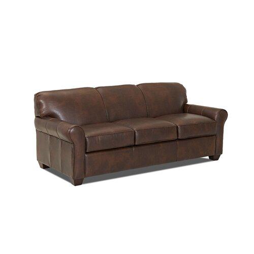Wayfair Custom Upholstery Jennifer Leather Sleeper Sofa