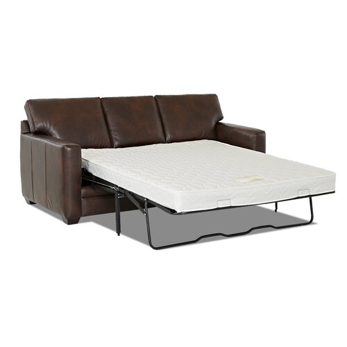 Carleton Leather Sleeper Sofa