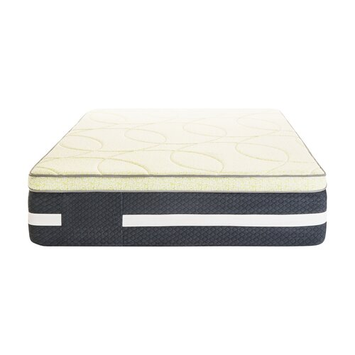 "Lucid 16"" Latex and Memory Foam Mattress & Reviews"