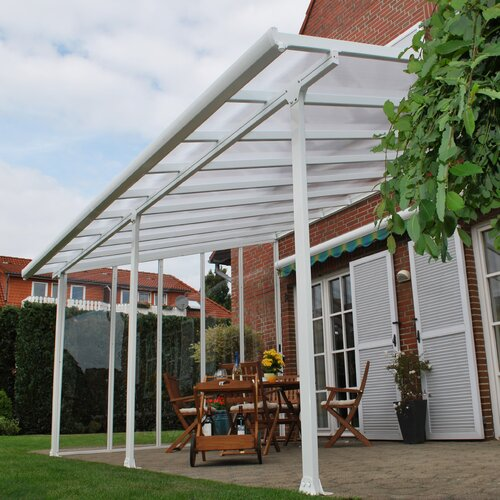 Feria 10ft N H X 34ft W X 13ft D Patio Cover Awning