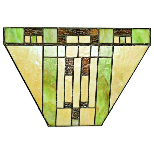 Stained Glass Wireless Wall Sconces : Cactus Mission Style Stained Glass LED Wireless Wall Sconce Wayfair