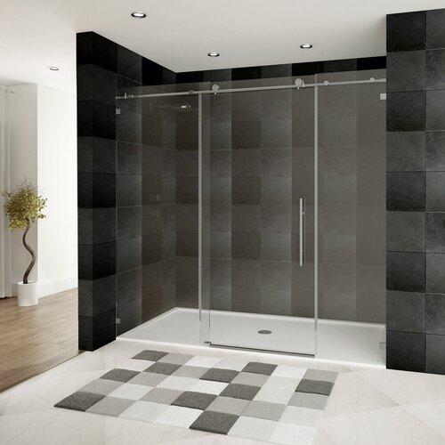 lesscare ultra c 76 x 72 sliding glass shower door