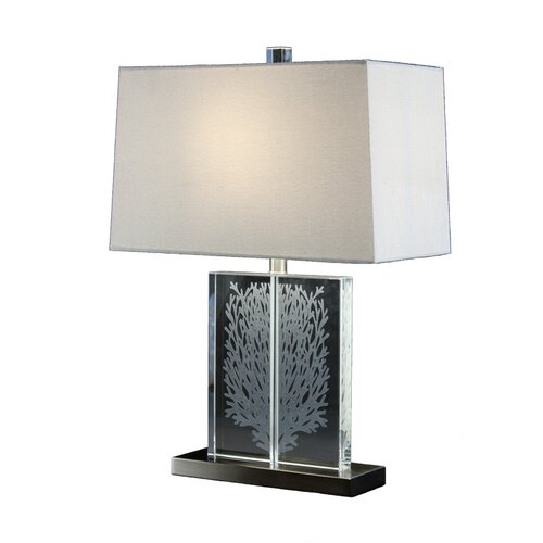 coral 24 h table lamp with rectangular shade by bungalow belt. Black Bedroom Furniture Sets. Home Design Ideas