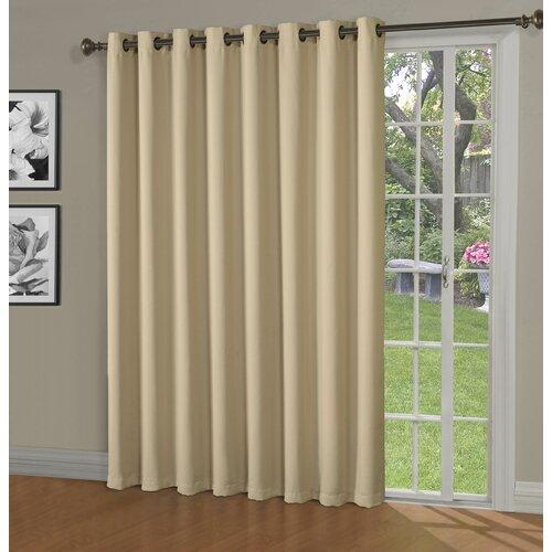 Maya Blackout Thermal Patio Door Extra Wide Grommet