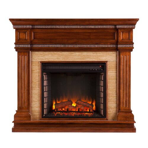Three Posts Cantrell Stone Look Electric Fireplace Reviews Wayfair