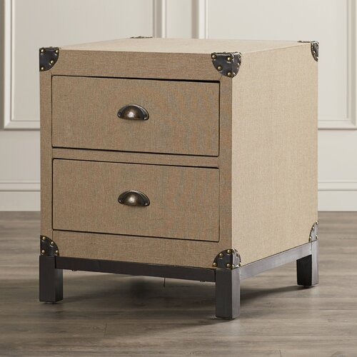 Three Posts Fairwise 2 Drawer End Table