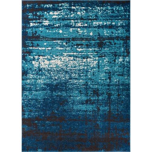 Well Woven Sydney Crosby Modern Distressed Blue Area Rug