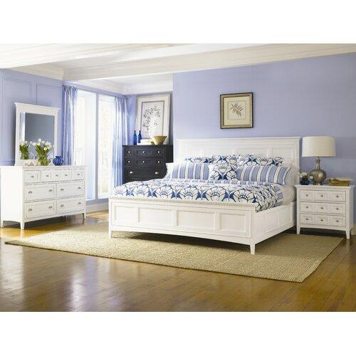 Kentwood california king panel bed in white wayfair - White king size bedroom furniture ...