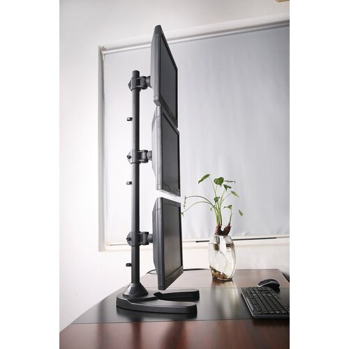 Triple Lcd Monitor Free Standing Vertical 3 Screens Up To