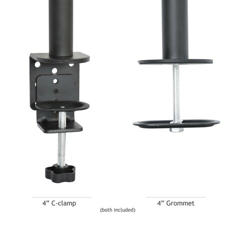 Single Lcd Monitor Fully Adjustable Tilt Up To 27 Quot Desk