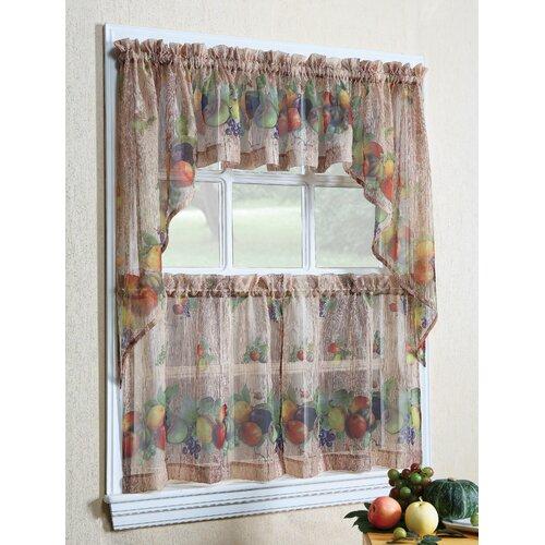 Tuscany Kitchen Cottage Curtain Set