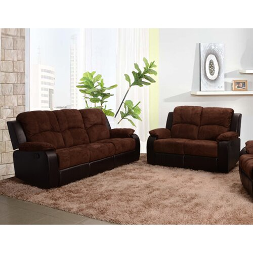 Beverly fine furniture pamela 2 piece microfiber reclining - Microfiber living room furniture sets ...