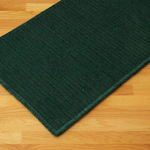 Solid Chenille Dark Green Area Rug
