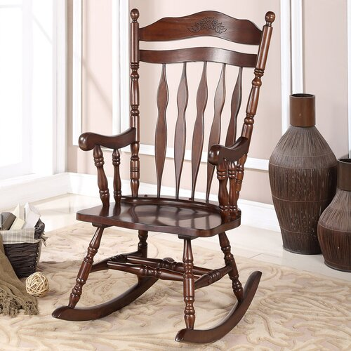 Wildon Home ® Solid Wood Rocking Chair & Reviews  Wayfair