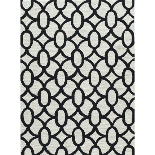 Black And White Geometric Rugs For Sale: Momeni Geo Black Geometric Area Rug & Reviews