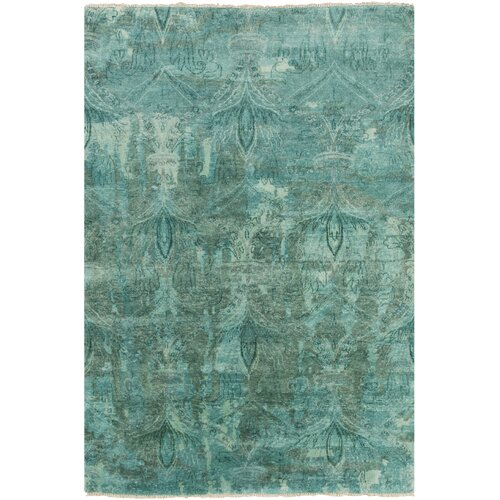 Cheshire Teal Damask Rug