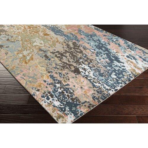 Chemistry navy teal area rug wayfair for Navy and teal rug
