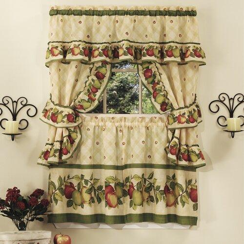 Apple Orchard Cottage Kitchen Curtain Set Wayfair