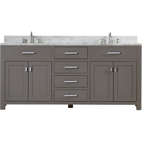 mercury row arax 72 double sink bathroom vanity reviews wayfair