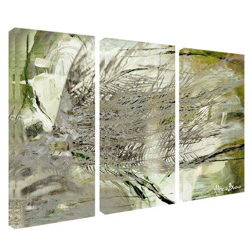 abstract palms 39 canvas wall art 3 piece wayfair. Black Bedroom Furniture Sets. Home Design Ideas