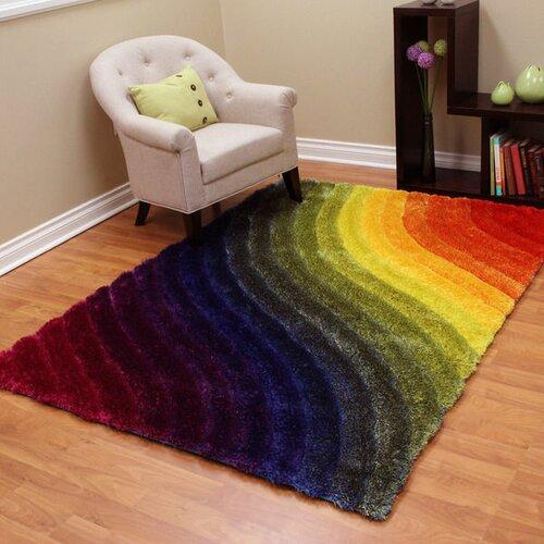 Funky Rainbow Colored Area Rugs: Rainbow Area Rug