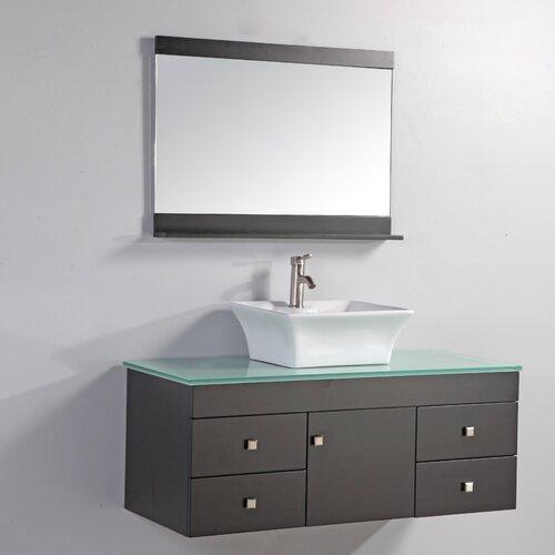 Nepal 48 single sink bathroom vanity set with mirror for Bathroom designs in nepal