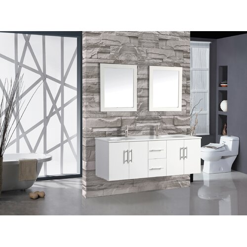Nepal 60 double sink bathroom vanity set with mirror for Kitchen sink in nepal