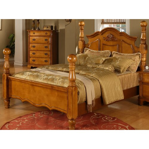 brighton 5 piece poster bedroom set by sunset trading