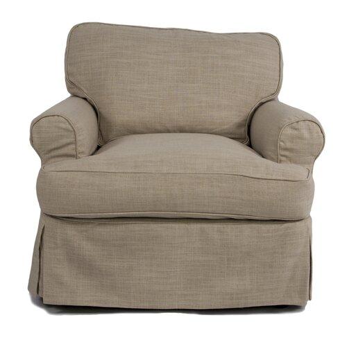 Horizon Armchair T-Cushion Slipcover | Wayfair
