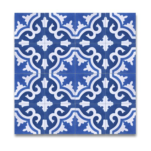 Moroccan mosaic tile house tanger 8 x 8 handmade cement for Handmade cement tiles