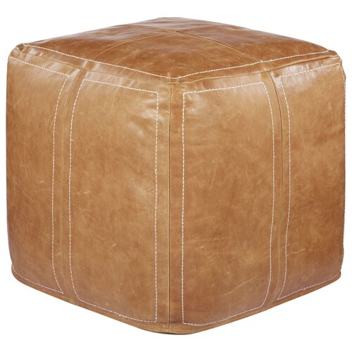 Nikkichu: Ultra By Nikki Chu Leather Pouf Ottoman