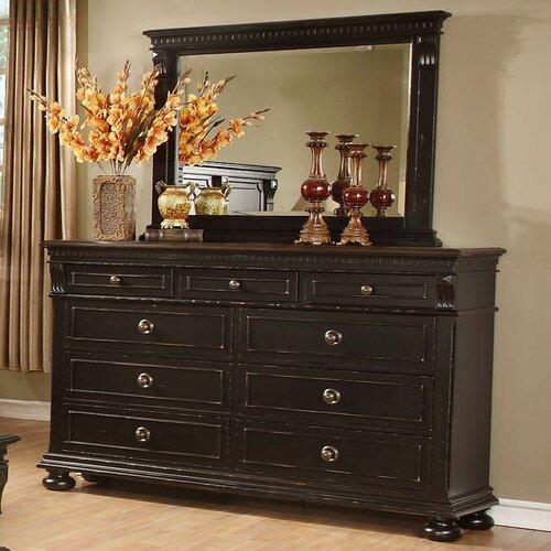 avalon furniture rvington hall 9 drawer dresser with mirror
