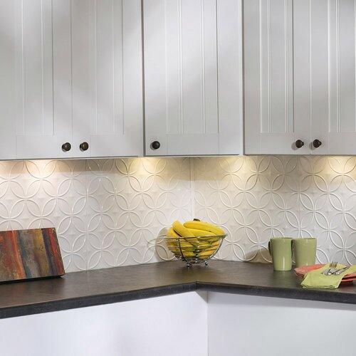 fasade rings x pvc backsplash panel in gloss