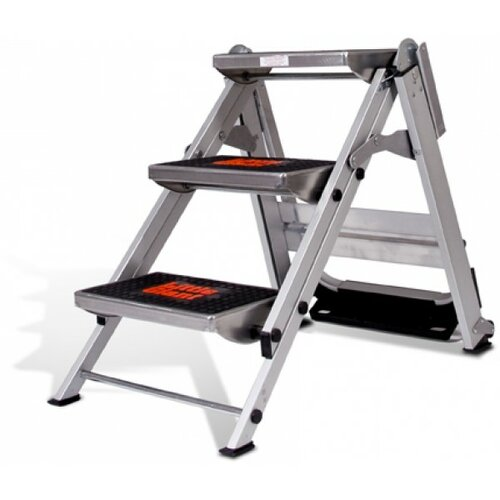 Little Giant Ladder 3 Step Aluminum Safety Step Stool With
