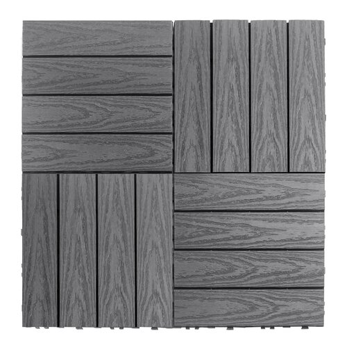 newtechwood naturale composite 12 x 12 interlocking deck tiles in westminster gray reviews. Black Bedroom Furniture Sets. Home Design Ideas