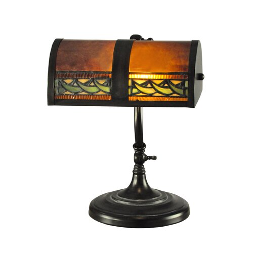 Dale tiffany egyptian 14 h table lamp with rectangular for Table lamps under 50