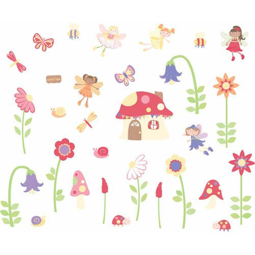 Enchanted Garden Fairies Room Décor Kit Wall Decal by Fun To See