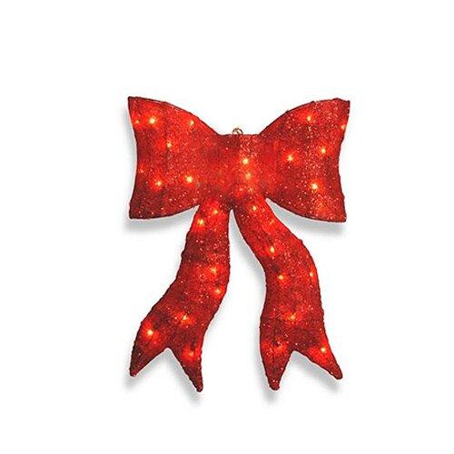 NorthlightSeasonal Sparkling Whimsical Sisal Bow Christmas