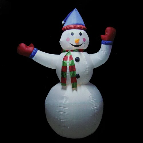 Animated inflatable lighted standing snowman christmas for Animated snowman decoration