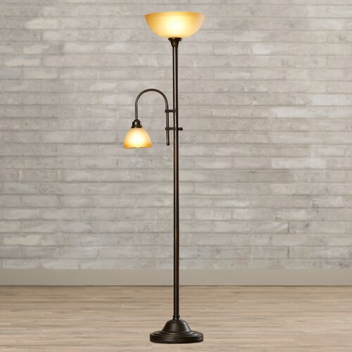 alcott hill torchiere 72 floor lamp reviews wayfair. Black Bedroom Furniture Sets. Home Design Ideas