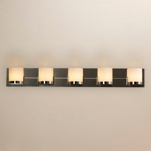 Bathroom Vanity Lights Too Hot : Wade Logan Congresbury 5 Light Bath Vanity Light & Reviews Wayfair