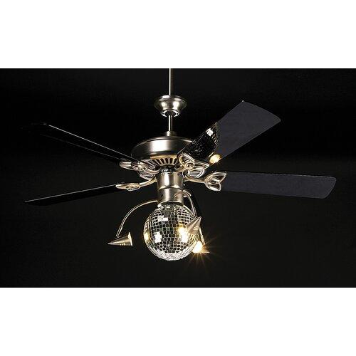 wade logan disco ball 3 light branched ceiling fan light. Black Bedroom Furniture Sets. Home Design Ideas