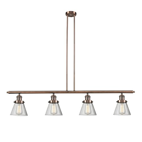 Glass Cone 4 Light Kitchen Island Pendant Wayfair
