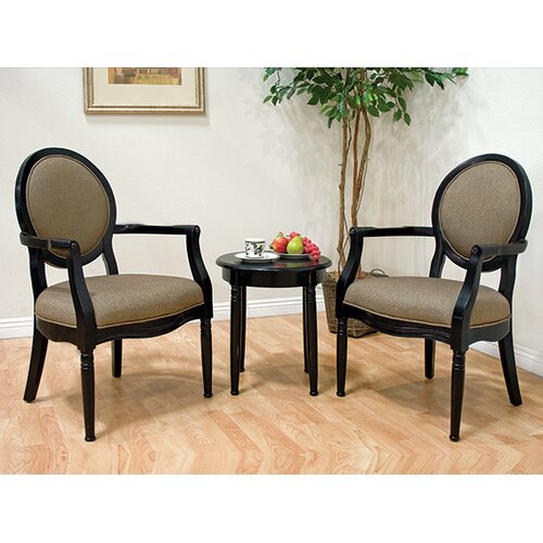 traditonal 3 pieces living room arm chair set reviews wayfair